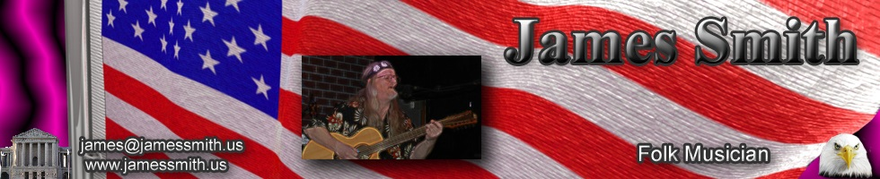 James Smith Banner Folk Musician